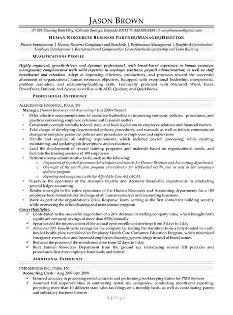 hr business partner resume sle 28 human resource resume templates hr generalist resume