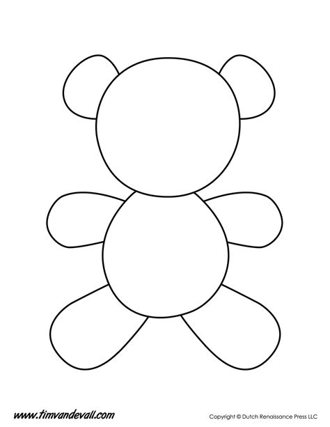 teddy template to print teddy template tim s printables