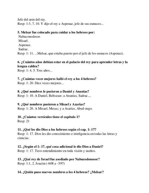 preguntas capciosas de la biblia para jovenes cristianos m 225 s de 90 preguntas y respuestas sobre el libro de daniel