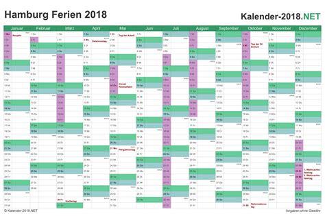 Kalender 2018 Hamburg Schulferien Ferien Hamburg 2018 Ferienkalender 220 Bersicht