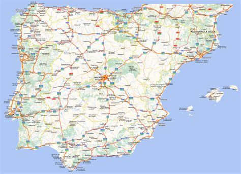 printable road map of portugal spain and portugal road map full size