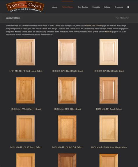 cabinet door company custom cabinet door photos taylorcraft cabinet door company