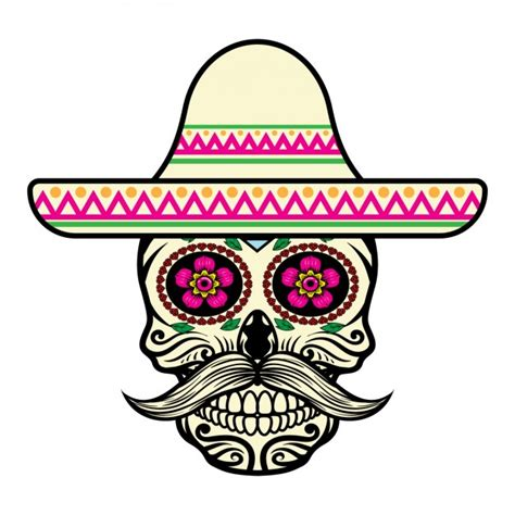 imagenes de calaveras coloridas dise 241 o de calavera mexicana descargar vectores gratis