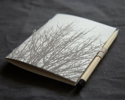 White Pocket Book Notebook Sketchbook With Pencil Holder