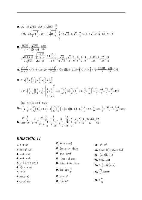 imagenes de matematicas resueltos ejercicios resueltos de el algebra de baldor