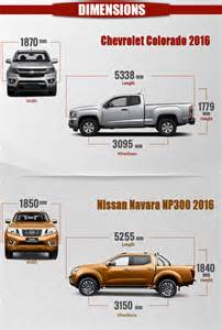 chevrolet colorado 2016 vs nissan navara np300 2016