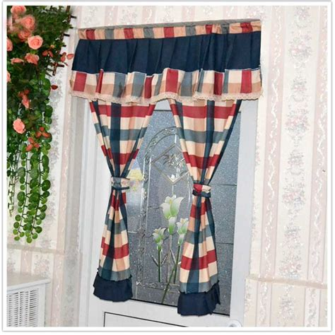 cheap plaid curtains popular plaid kitchen curtains buy cheap plaid kitchen