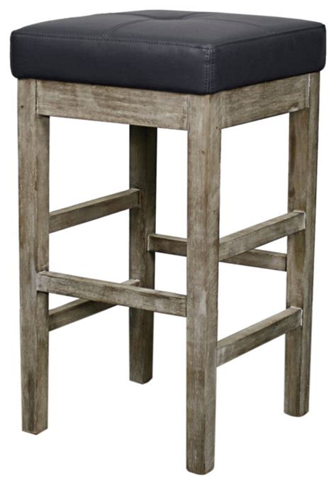 Farmhouse Stools by New Pacific Direct Inc Valencia Bonded Leather Backless