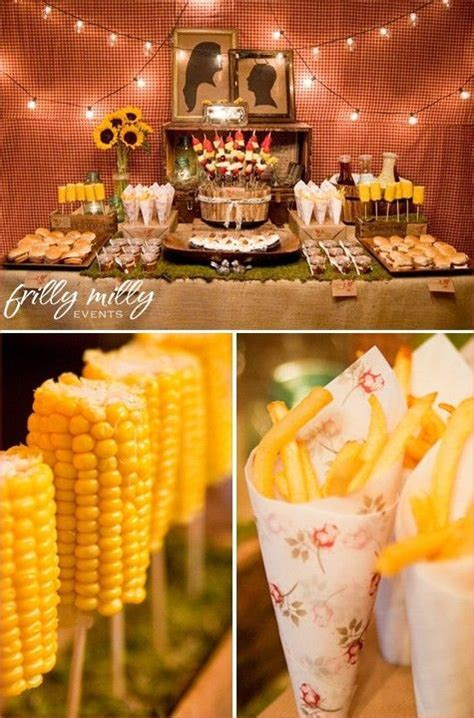 food ideas for couples wedding shower lumberjack couples wedding shower bbq food bbq and engagement