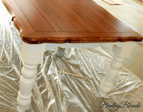 painting oak table with chalk paint bentleyblonde diy farmhouse table dining set makeover