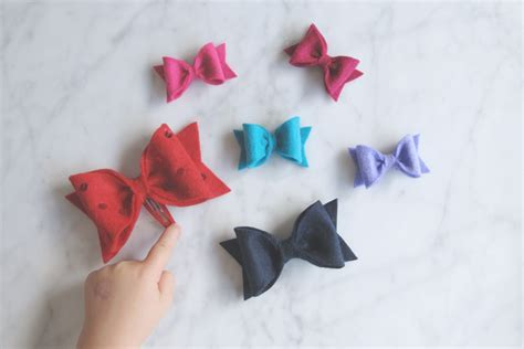 pattern for felt bows perfect felt bows free sewing pattern and tutorial the