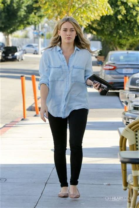 Get Look Hilary Duffs Burch Ballerina Flats by Seen On Style Guide Hilary Duff Wore This