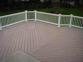 pvc deck wood decks pvc vs wood decks
