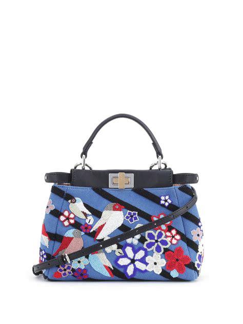 Fendi Micro 2face Baguette Elaphe Trimmed Shoulder Bags fendi peekaboo mini lace up leather satchel fendi bags