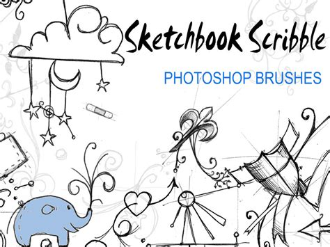 sketchbook or photoshop sketchbook scribble brushes by invisiblesnow on deviantart