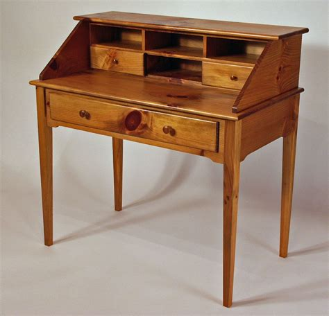 writing desk custom made shaker white pine writing desk by white sands