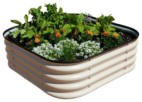 modular metal trough garden bed industrial outdoor