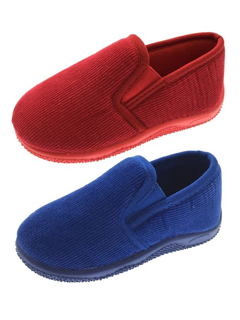 size 4 boys slippers boys classic corduroy slippers slip on shoes cord