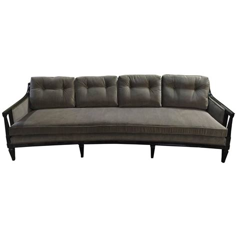 Curved Sofas For Sale Schoonbeck Mcm Velvet Curved Sofa For Sale At 1stdibs