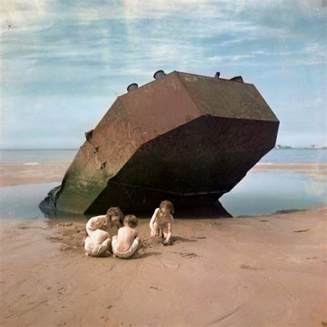 higgins beach boat wreck chim omaha beach normandy france 1947 history