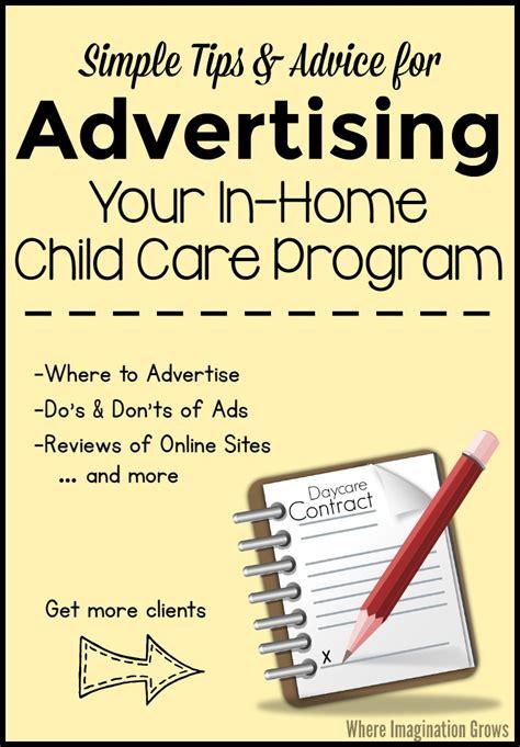 advertising your family child care program where