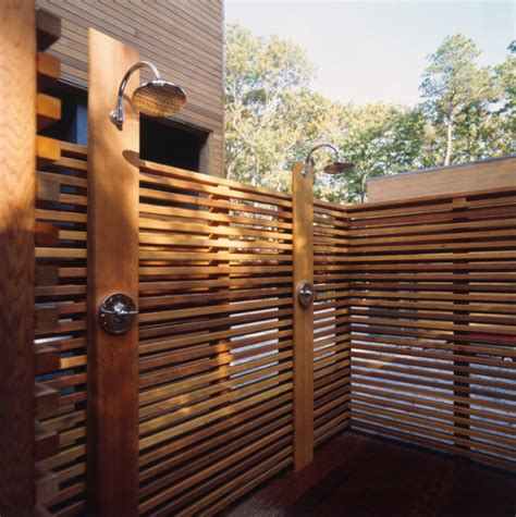 outdoor shower on deck 12 luxurious outdoor showers design milk