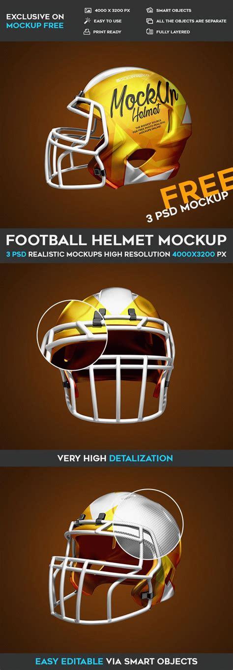 Football Helmet 3 Free Psd Mockups Free Psd Templates Football Template Psd