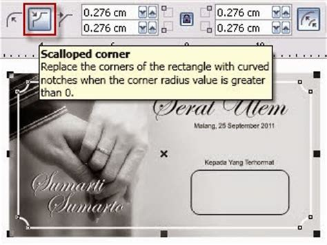 cara membuat surat undangan pernikahan dengan corel draw x5 cara mendesain undangan pernikahan dengan coreldraw