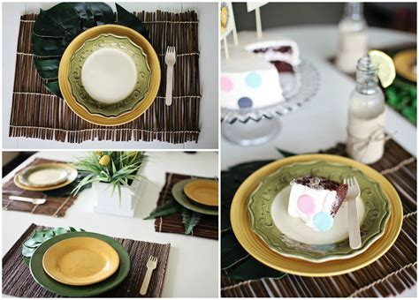 baby shower place settings safari baby shower ideas pear tree greetings