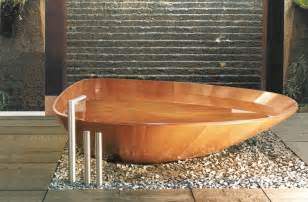 awesome oval wooden bathtub with high free standing tub