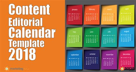 content marketing calendar template 2018 content marketing trends predictions editorial