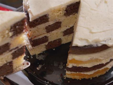 chocolate and vanilla checkered flag cake recipe nancy fuller food network