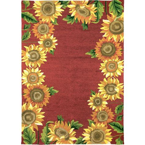 Sunflower Area Rugs Sunflower Field 3 Ft X 5 Ft Indoor Outdoor Area Rug Pps Jb111c The Home Depot
