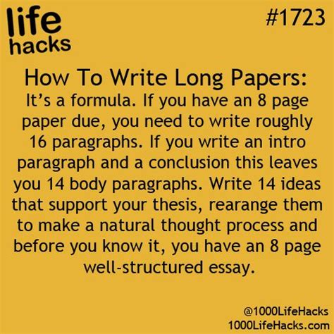 Ways To Make A Paper Longer - hacks for college students the odyssey