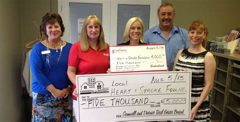 Cornwall and District Real Estate Board presents $10,000 to Heart & Stroke Foundation   REM
