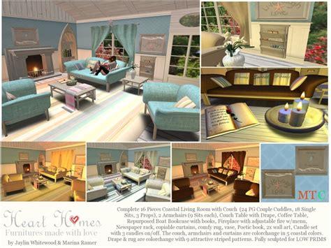 coastal living sofas second life marketplace coastal living room complete set