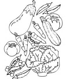 vegetable coloring pages for az coloring pages - Vegetables Coloring Pages