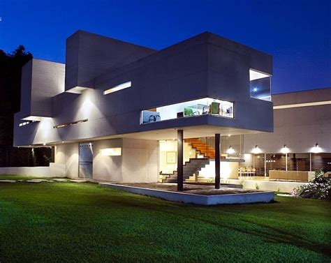 Home Interior Wall Colors Modern Concrete House Of Mexico With High Ceilings And