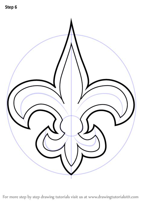 New Drawing Learn How To Draw New Orleans Saints Logo Nfl Step By