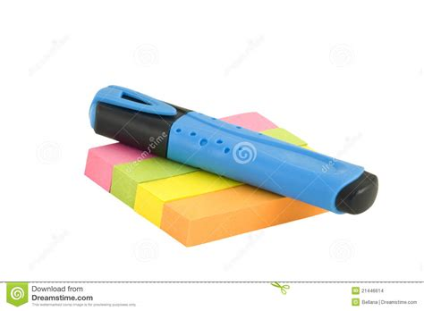 Recording Marker Sticky Notes Post Its Penanda Dokumen Dan Memo marker and post it notes stock images image 21446614