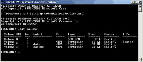 diskpart format please select a volume diskpart server 2003 how to use diskpart to extend