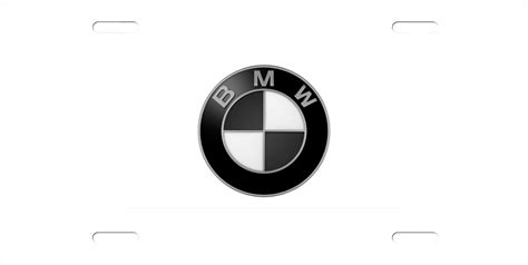 Bmw Logo White by Black And White Bmw Logo License Plate License Plate