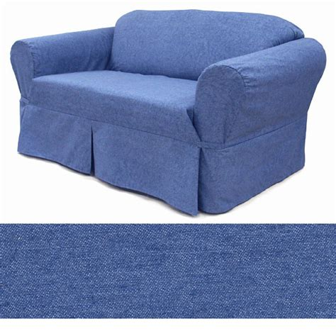 Denim Slipcover washed denim sofa slipcover ebay