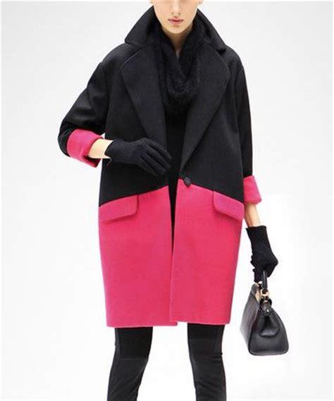 color coat cocobella black color block coat coats colors