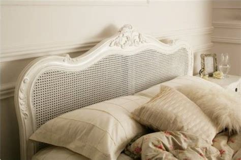 White Wicker King Size Headboard by Provence Rattan White Wooden Bed Frame Painted Wood Wooden Beds Beds For The Home