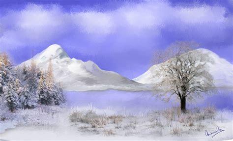 paysage hivernal digitarts