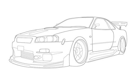 nissan skyline drawing outline 202 best cars to draw images on pinterest animation