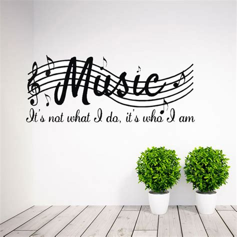 music wall decor removable music is not musical notes room decor art vinyl diy wall decal sticker ebay