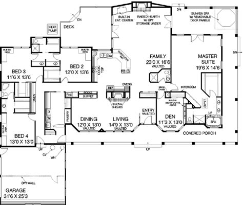 3600 square foot house ranch style house plan 5 beds 4 baths 3600 sq ft plan