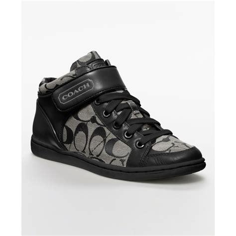 coach white sneakers coach zoey sneaker in black black white black lyst